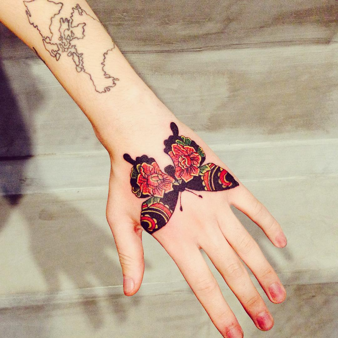 Butterfly Floral Printed Tattoos