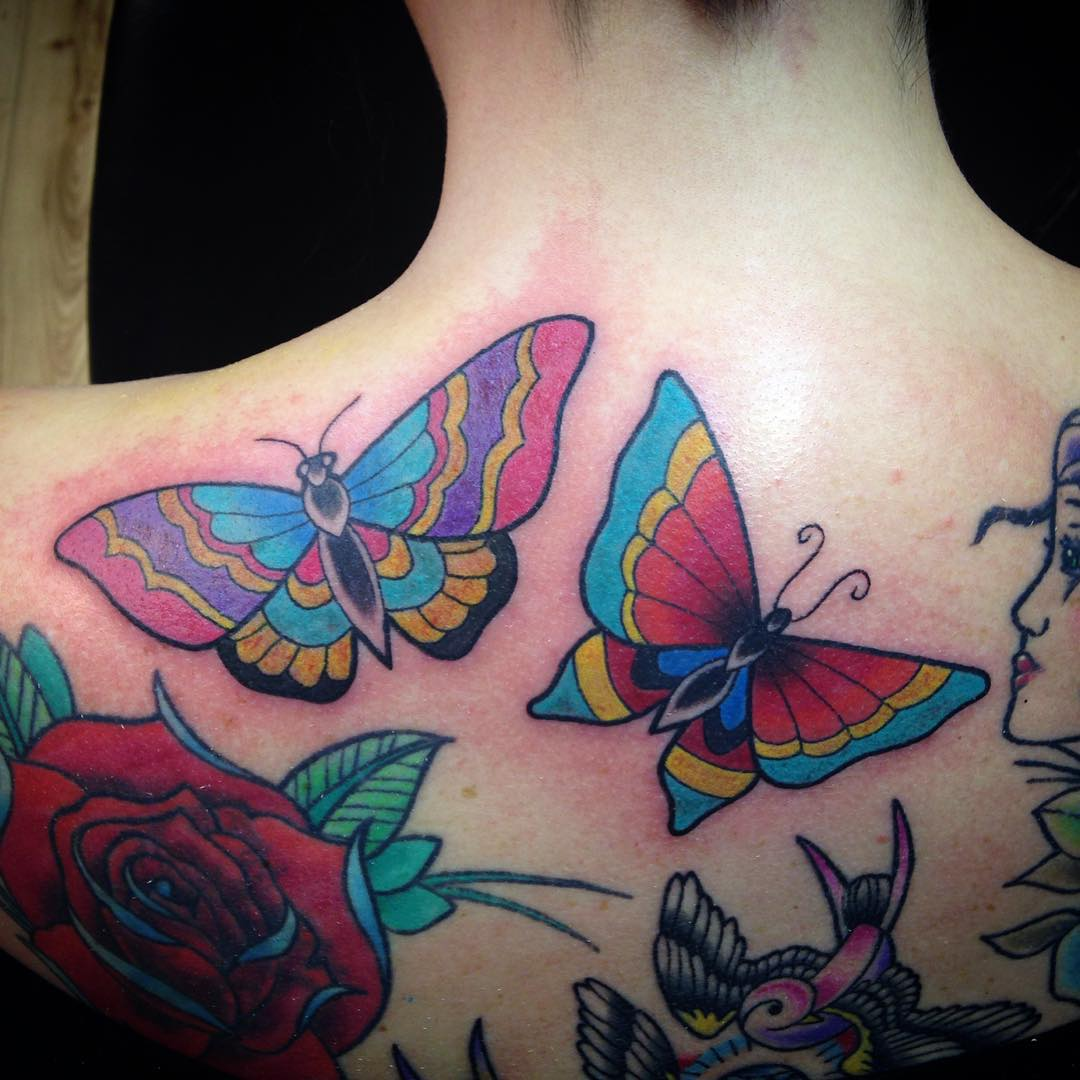 679b792d0 28 Awesome Butterfly Tattoos with Flowers That Nobody Will Tell You
