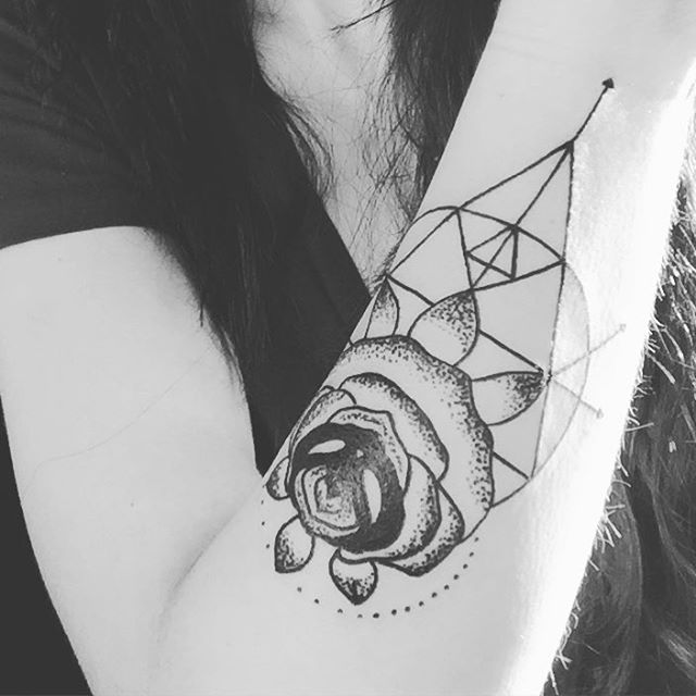 Geometric Tattoo on Forearm