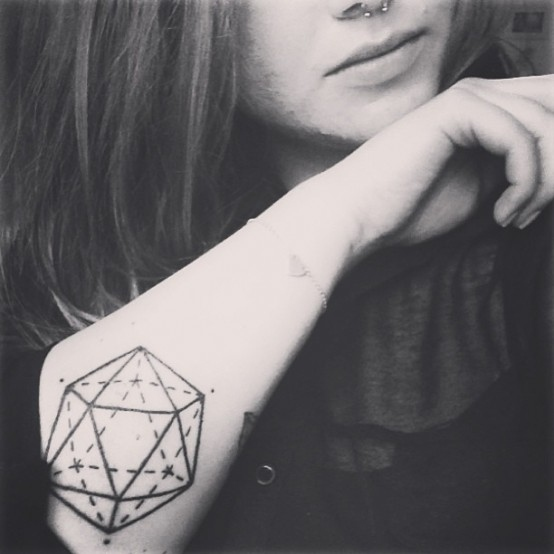 geometric tattoo sketch
