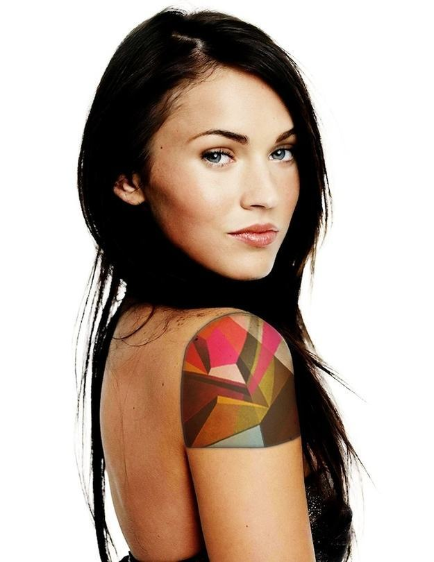 Geometric Colorful Tattoo