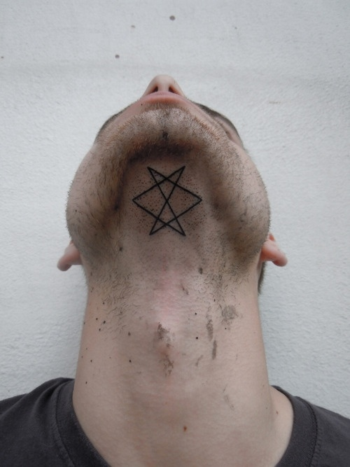 Geometric Tattoo on Neck