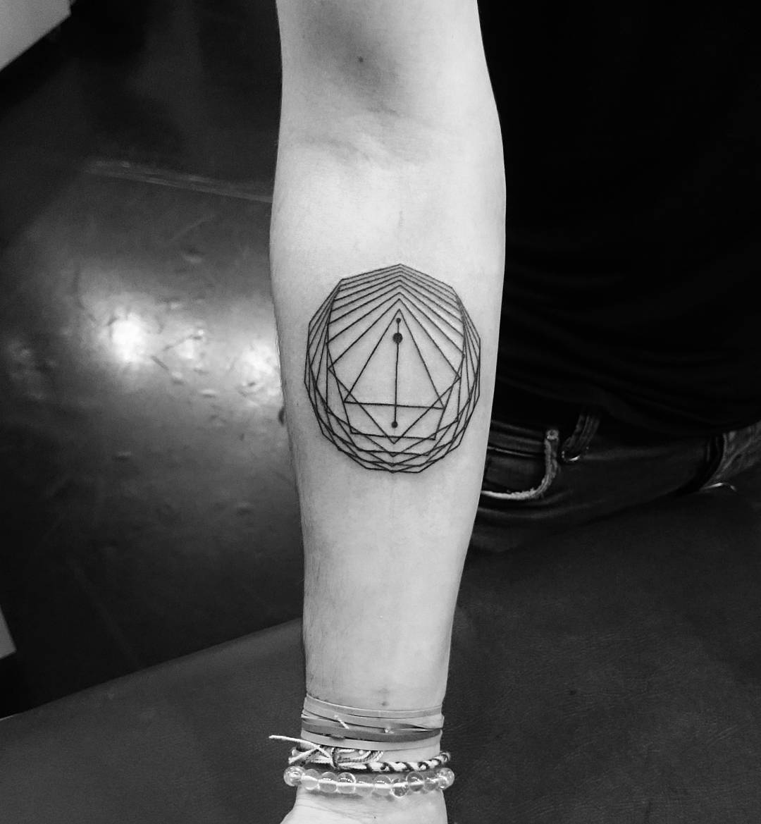 Line work Geometric Tattoo