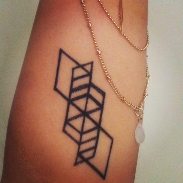 geometric tattoo drawings