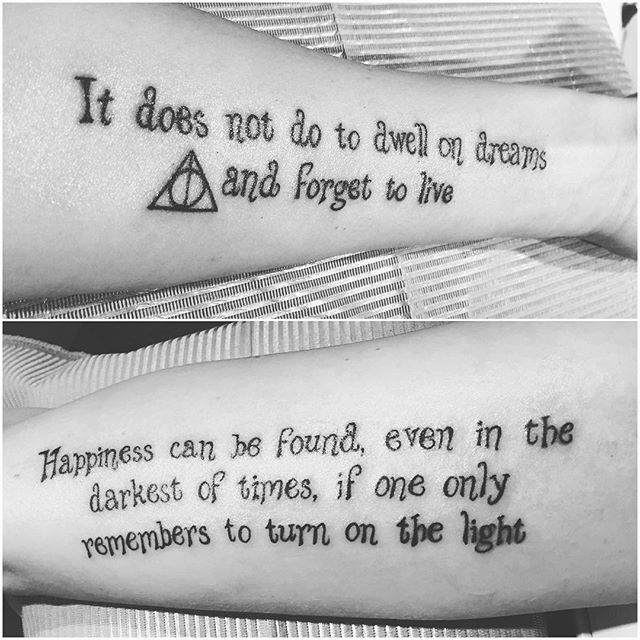 Tattoo Quotes Happiness: 145 Most Magical Harry Potter Tattoos You'll Want To See