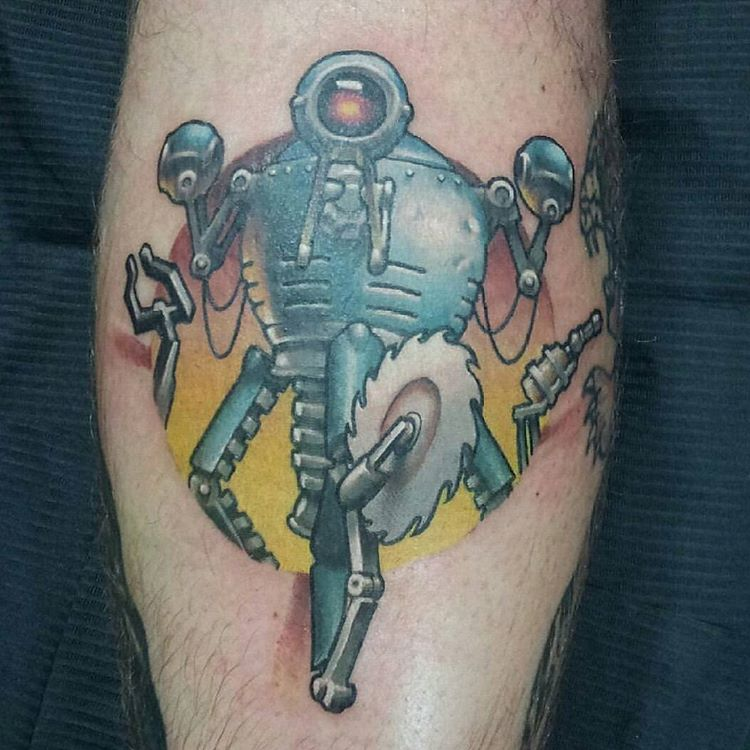 Mister Gutsy military robot fallout tattoo