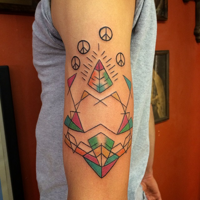 Peace Pyramid Tattoo Designs