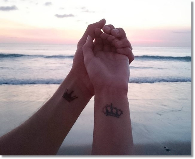 Cool Small Crown Tattoo Ideas for Couples