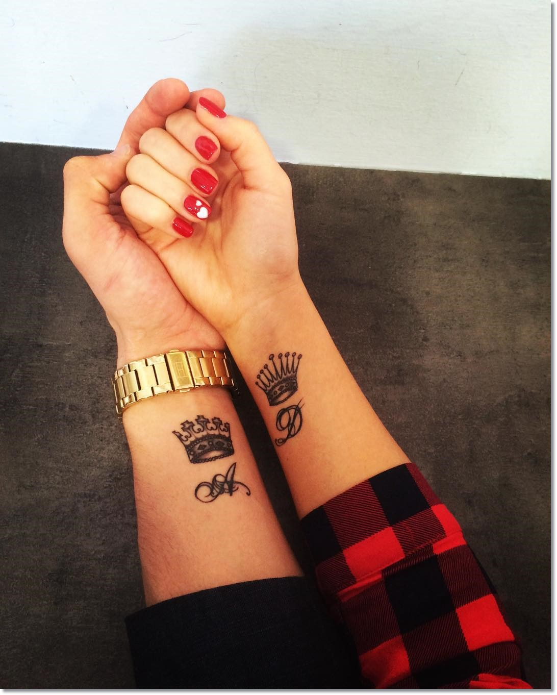 Crown tattoo on tumblr - Small Crown Tattoo On Wrist For Couples