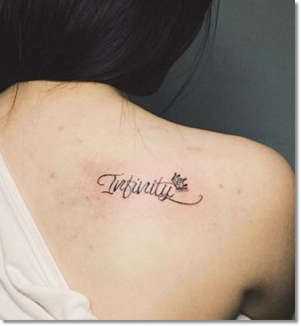 Infinity Small Crown Tattoo Placement for Women