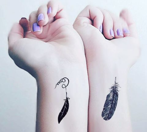 small feather tattoos