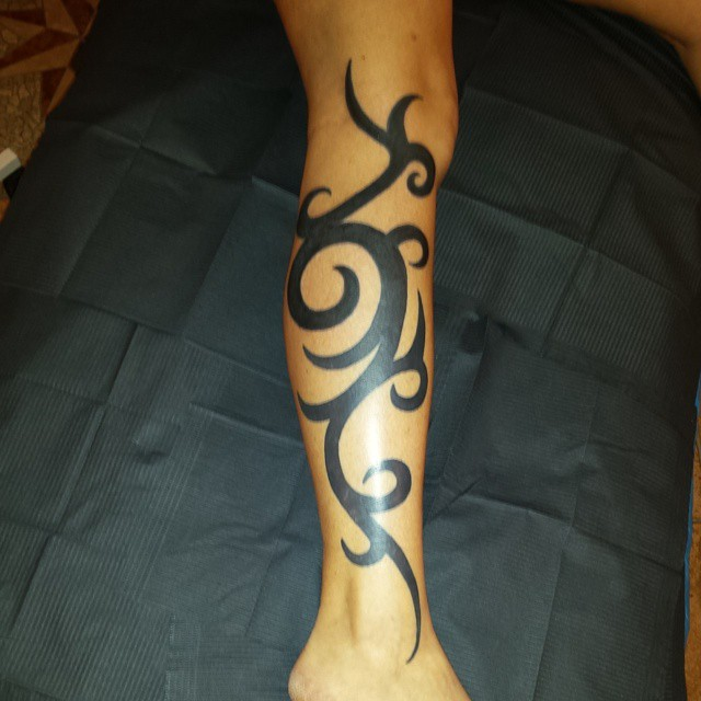 30 bold beautiful tribal tattoos for women ForTribal Leg Tattoos For Females