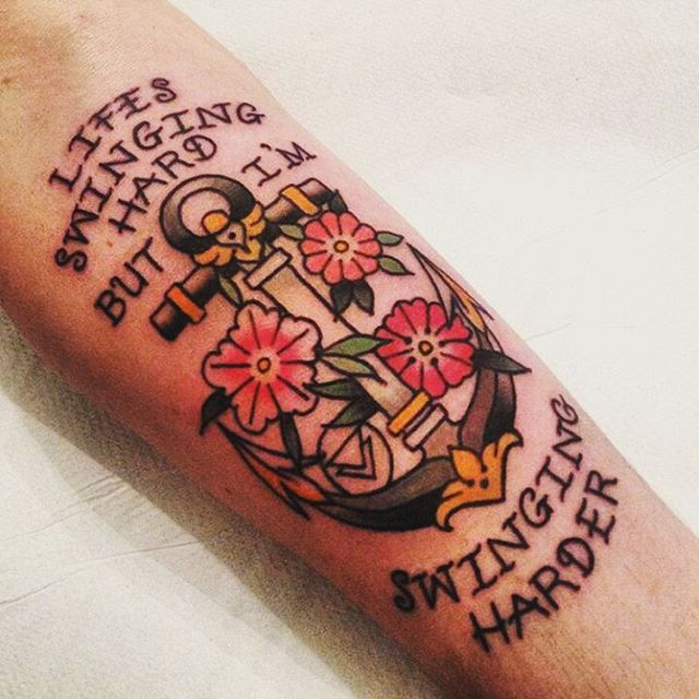 anchor tattoos with quotes