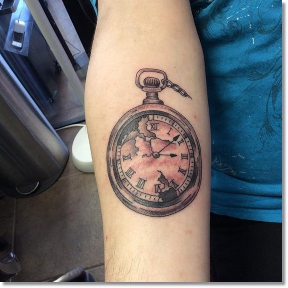 black-steampunk-pocket-watch-tattoo-ideas