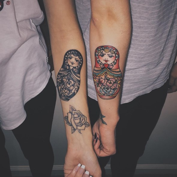 brother and sister family tattoos