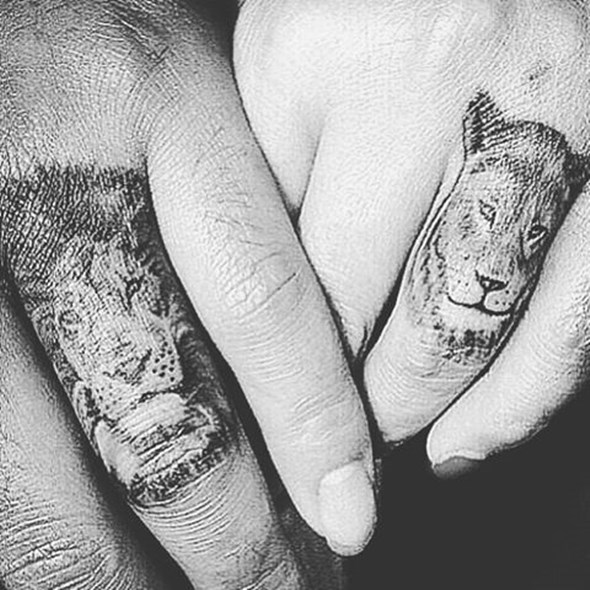 brother and sister lion tattoo