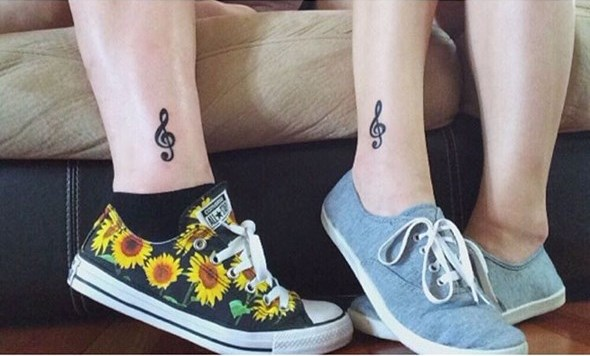 brother and sister music tattoos