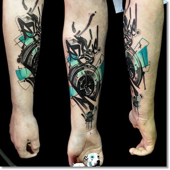 cool broken pocket watch tattoo meaning