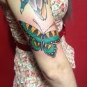 feminine butterfly tattoo