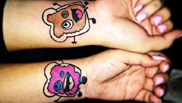 funny brother and sister tattoos