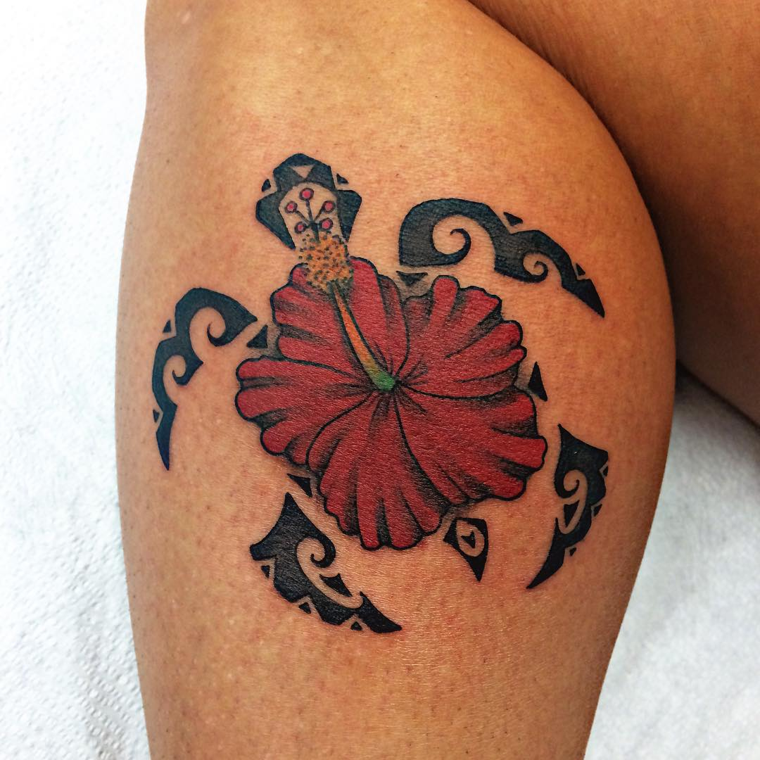 hawaiian hibiscus flower tattoo design - Tattoo Idea Designs