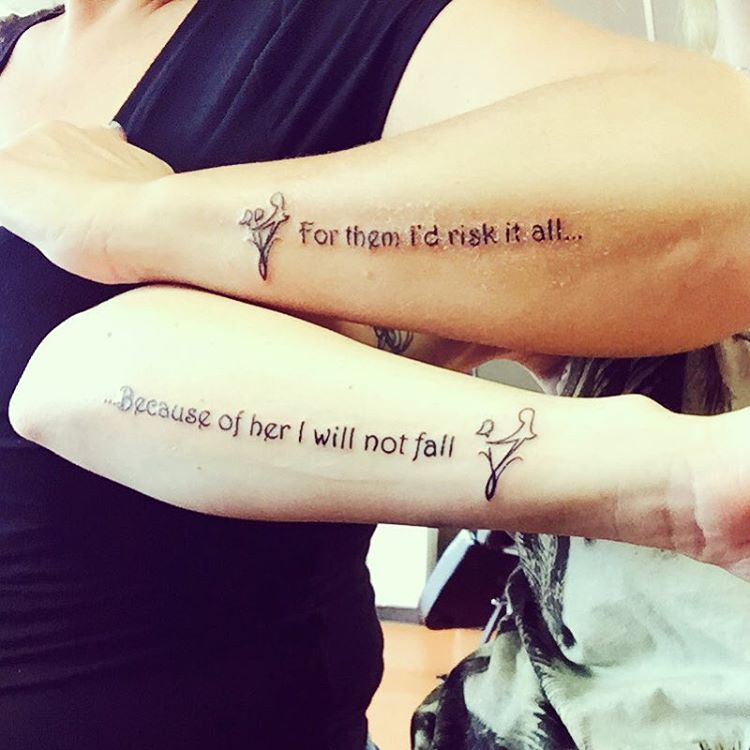 mom daughter tattoos sayings