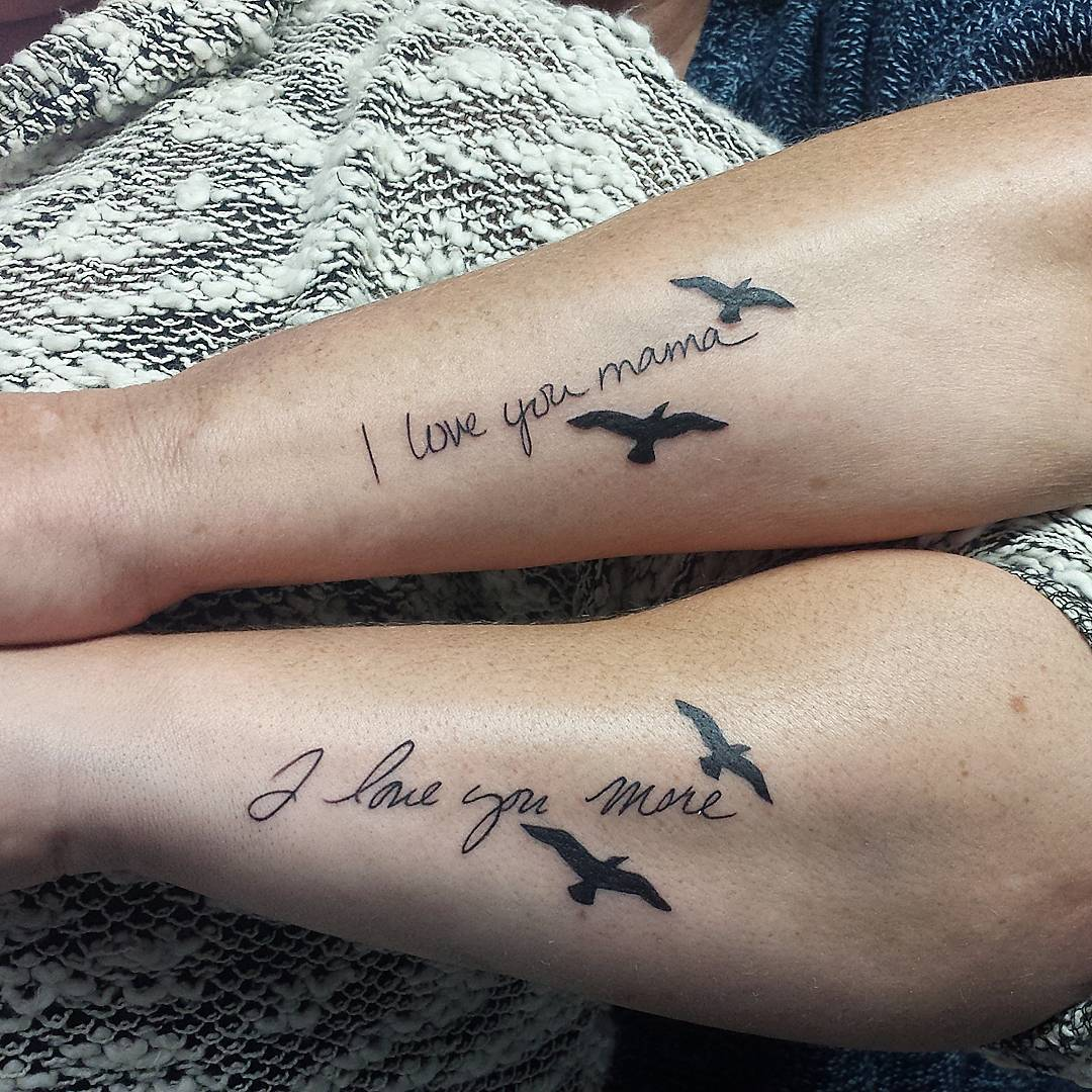 Tattoo Quotes Gallery: 31 Beautifully Mother Daughter Tattoo Ideas Pictures