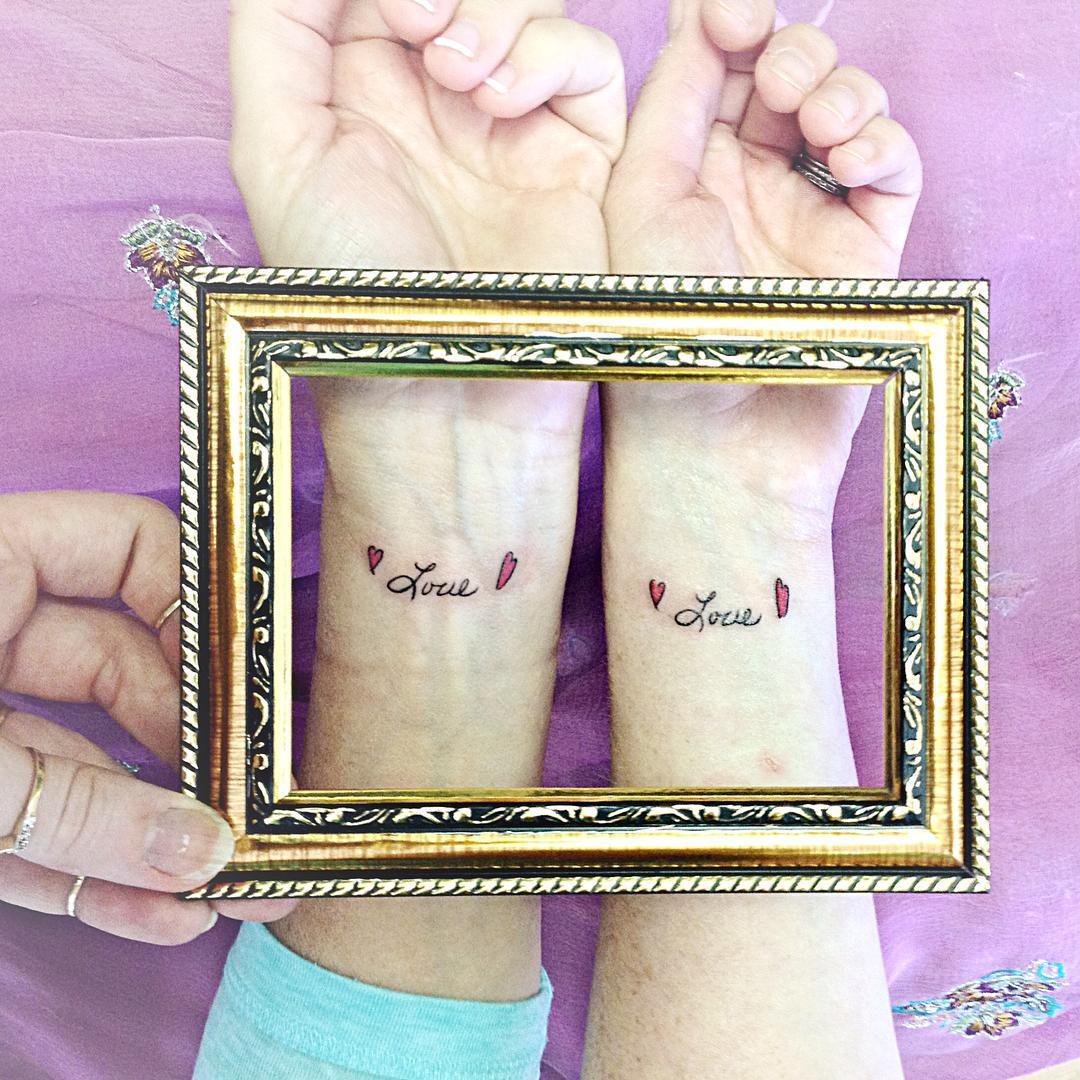 Grandmother and Mothers handwriting tatttoo meaning