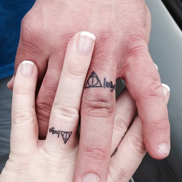 Harry potter wedding band tattoo