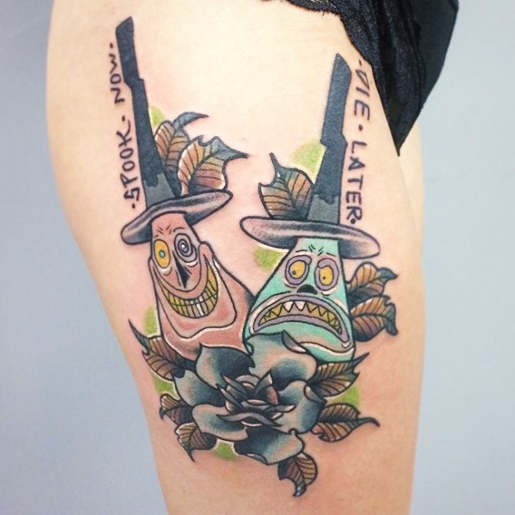 Nightmare Before Christmas Tattoos Designs-1