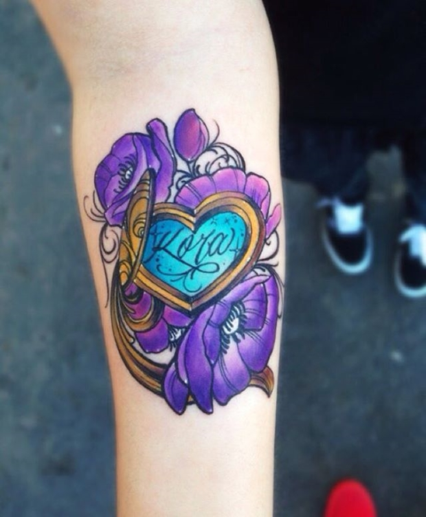 Tattoo Designs Heart With Names: 30 Beautifully Touching Tattoos Of Hearts With Names