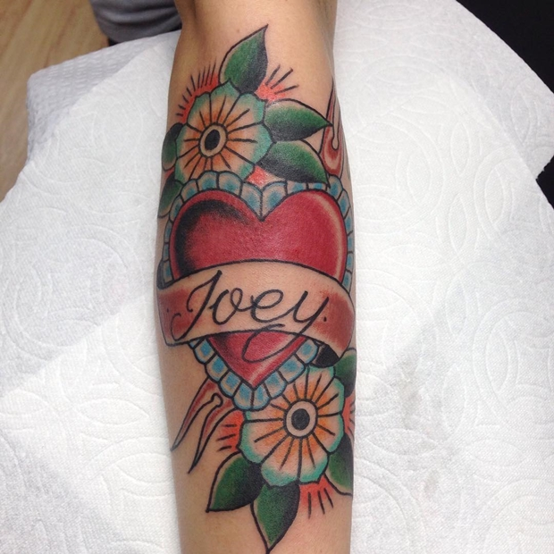 Tattoos Hearts with Names-18