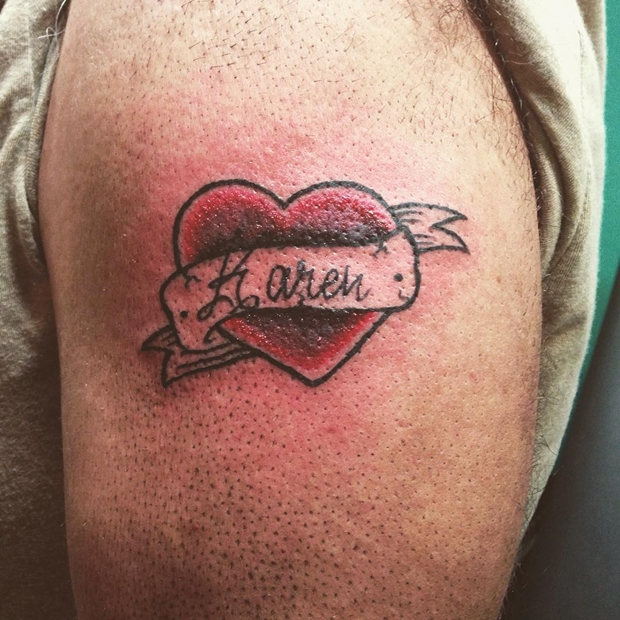 Tattoos Hearts with Names-19
