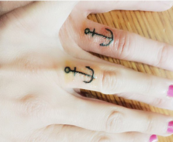 anchor wedding band tattoos