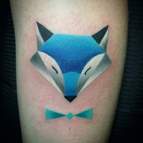blue-fox-head-tattoo-designs