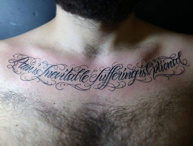 27 examples of collar bone tattoos for guys