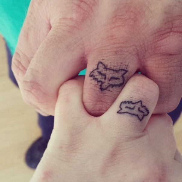 fox wedding ring tattoo