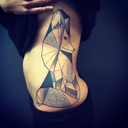 geometric-fox-tattoo-designs-on-side