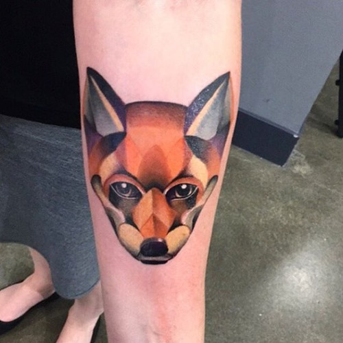 geometrical-red-fox-head-tattoo-design