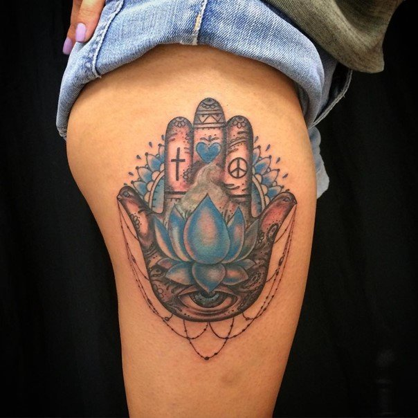 Hamsa Tattoos Designs Ideas And Meaning: 63 Dainty Hamsa Hand Tattoo To Protect Yourself From The