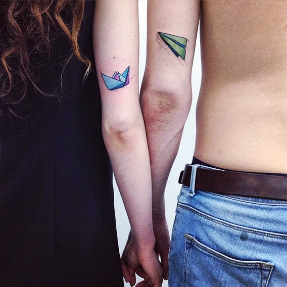 his and hers matching tattoos designs