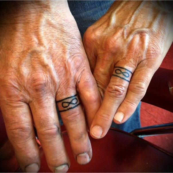 infinity symbol wedding band tattoo
