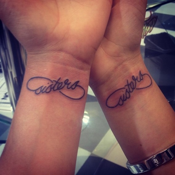 infinity tattoo twin sister