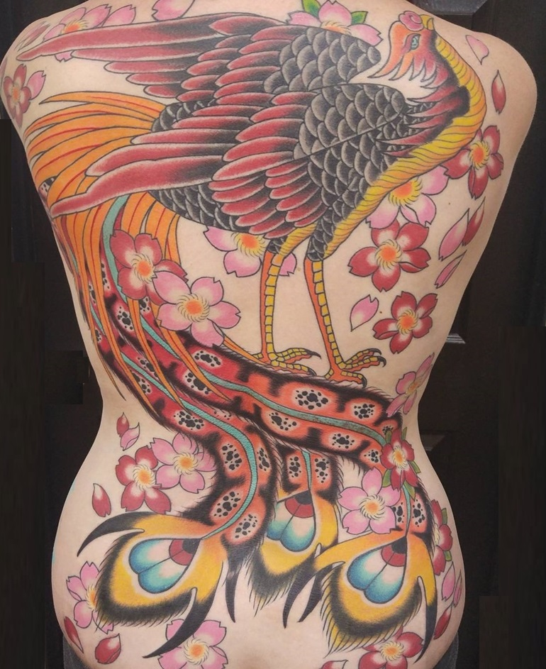 japanese-tattoo-phoenix-on-back
