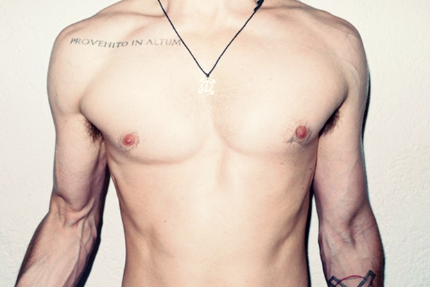 27 examples of collar bone tattoos for guys, Cephalic Vein