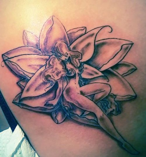 lotus flower fairy tattoo