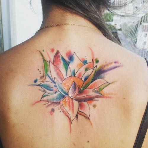 lotus flower water color tattoo designs