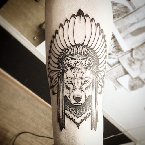 native-fox-head-tattoo-designs