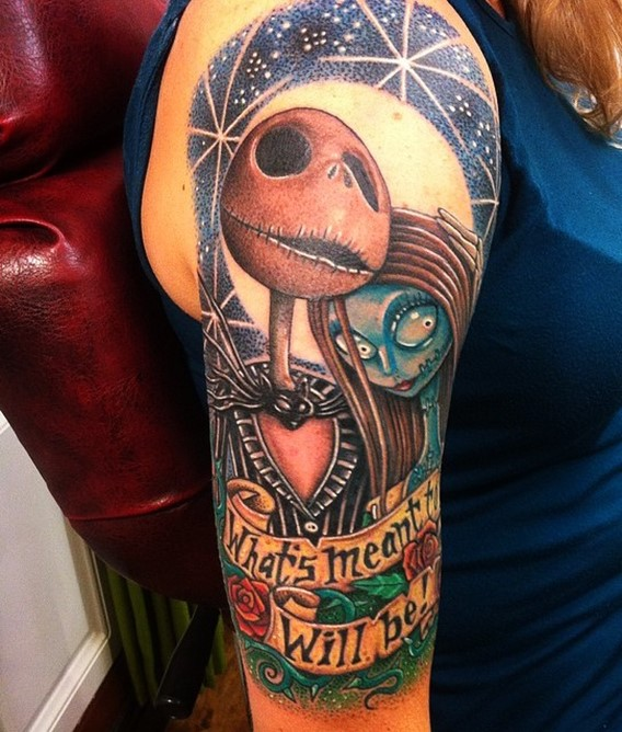40 cool nightmare before christmas tattoos designs for Is tattoo nightmares still on