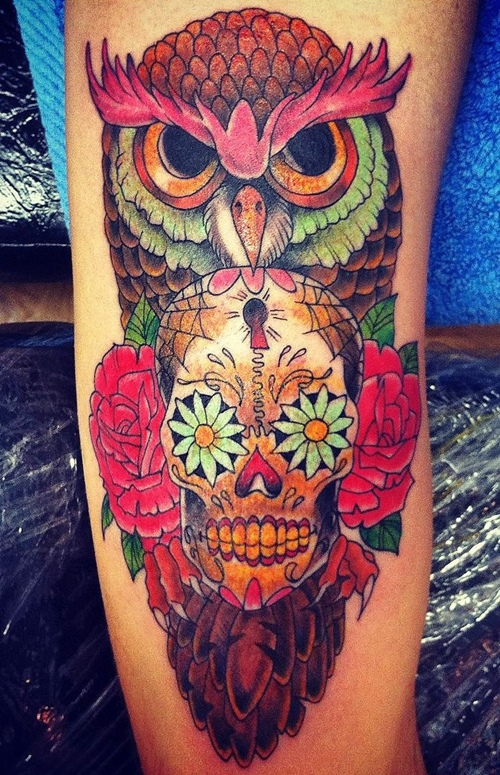 owl-and-skull tattoo-01